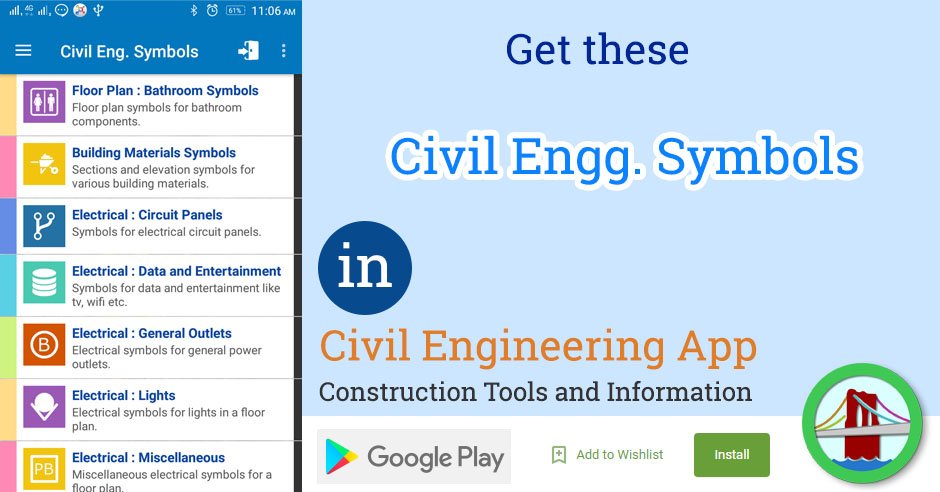 Civil Engineering Symbols
